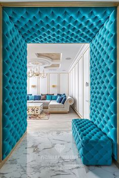 Fancy entrance to the # art deco entrance hall # entrance hall # hall design # stylish Living Room Designs, Living Room Decor, Bedroom Decor, Home Interior Design, Interior Decorating, Upholstered Walls, Hall Design, Luxurious Bedrooms, Ceiling Design