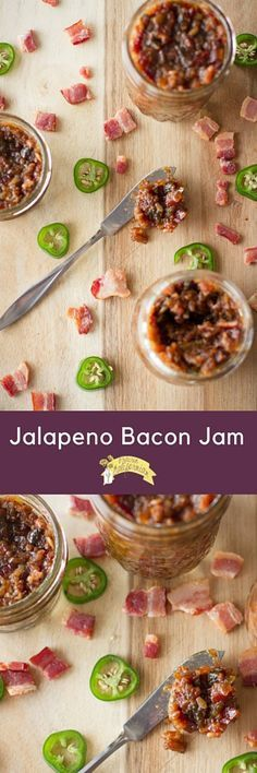Jalapeno Bacon Jam - Prairie Californian Jalapeno Recipes, Jalapeno Bacon, Stuffed Jalapenos With Bacon, Bacon Jam, Jelly Recipes, Bacon Recipes, Jam Recipes, Canning Recipes, Stuffed Peppers