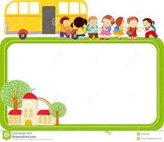 Illustration about Illustration of cute cartoon kids and school bus frame. Illustration of girls, emotion, holiday - 43233468