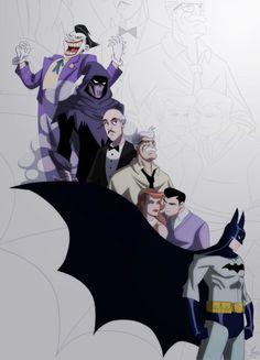 "Mask Of The Phantasm ""batman: the animated movie"" character art"