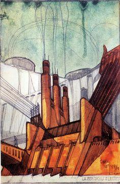 Antonio Sant'Elia (* 30. April 1888 in Como; † 10. Oktober 1916 in Monfalcone) war ein italienischer Architekt des Futurismus. Centrale_elettrica_Sant'Elia.jpg (861×1312)