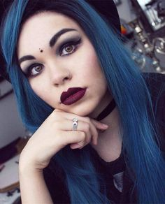 Black To Dark Blue Ombre Synthetic Lace Front Wig – FashionLoveHunter