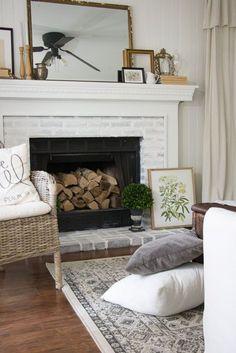 Vintage Cottage Living Room Makeover - Seeking Lavendar Lane
