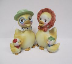 Vintage Easter Duck Family Lego Company Korea 1970s by retrogal415