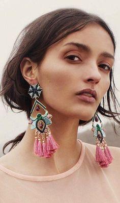 Flor Del Paramo Rosa Earrings by Mercedes Salazar