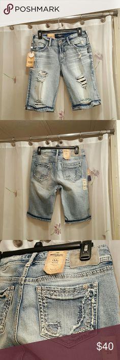 Silver Suki Bermudas The Bermudas are new with tags never worn inseam 11 inches silver Jean company Shorts Bermudas