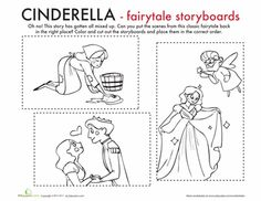 Worksheets: Color the Cinderella Moment