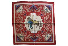 """Hermès Cheval Turc Pochette Scarf on OneKingsLane.com 