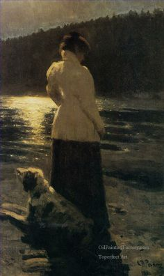 Ilya Repin (Russian, 1844 - 1930) - Moonlight night, 1896