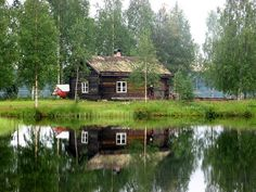 A cottage in Lycksele, Lappland - where I was born.