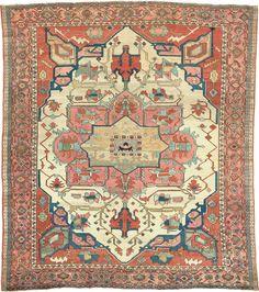 "Persian Heriz Serapi rug, 10' 5"" x 11' 6"", J.H. Minassian gallery"