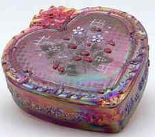 Sweet boxes of candy that girls would receive from their beaus on Valentines Day.  B.