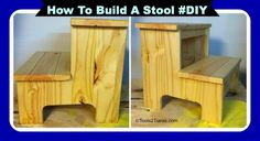 How To Build A Step Stool For Your Toddler – Easy #DIY @Rachel Ferrucci