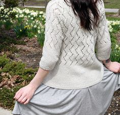 ++++++++++++++++++++++++++++++++++++++++++++++++++++++++++++++ PDF Knitting Pattern: Chic Knits VONICA Lace Cardigan Knitting Pattern ++++++++++++++++++++++++++++++++++++++++++++++++++++++++++++++  Simply elegant...  Beautiful all-over eyelet patterning with lovely detailing and minimal finishing, Chic Knits VONICA features subtle but simple top-down, set-in sleeve construction.  Knit in one piece, using DK weight yarn knit at a worsted gauge. Instructions included for both long sleeves and…