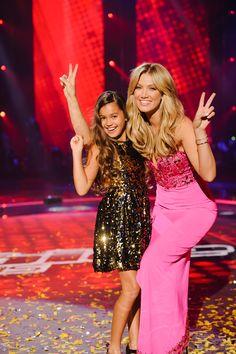 Alexa and Delta Goodrem on The Voice Kids Australia.
