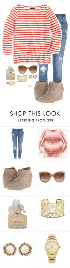 """Help Me. I Just Fell in Love With My Guy Best Friend"" by elizabeth-southern-prep ❤ liked on Polyvore featuring River Island, J.Crew, TOMS, STELLA McCARTNEY, Marc by Marc Jacobs, Kendra Scott, Michael Kors and Sydney Evan"