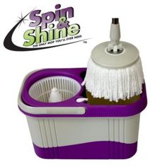 Spin & Shine Spin Mop - QVC quality Mop - Bonus Mop Replacement Heads…