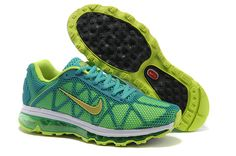 brand new e6acb e75ee New 2013 Nike Air Max 2011 Blue Green Women s Running Shoes  cheap  green