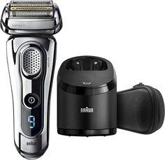 Braun - Series 9 Wet/Dry Shaver - Chrome - Angle_Zoom Best Electric Razor, Best Electric Shaver, Braun Electric Shavers, Braun Shaver, Foil Shaver, Shaving Machine, Shaving & Grooming, Grooming Kit, Best Gifts For Men