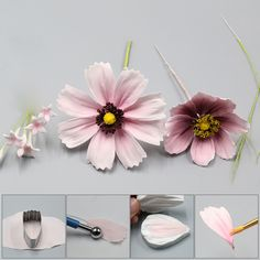 Daisy Petal Silicone Veiner & Cutter Flower Petal Cutter Fondant Sugarcraft Stainless Steel Cutter Cake Decorating Moulds