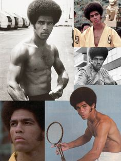 Jim Kelly (May 5, 1946 - June 29, 2013) was an American martial artist and actor, best known for his starring role in Enter the Dragon (1973) opposite Bruce Lee. Sporting an afro and sideburns, Kelly made a splash with his one-liners and fight scenes in the martial arts classic. His later films include Three the Hard Way (1974), Black Belt Jones (1974), & Black Samurai (1977). He later left acting and became a professional tennis player.