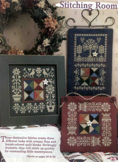 Gift Linens Just Nan FLORAL FIFTEEN Biscornu Cross Stitch Embroidery Kit Embellishments Pattern French Threads /& Pins 3D Shape