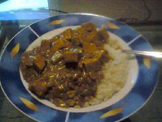 Tofu, rice, curry