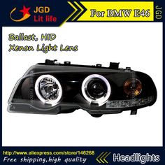 508.30$  Buy here - http://alil6a.worldwells.pw/go.php?t=32763384263 - Free shipping ! Car styling LED HID Rio LED headlights Head Lamp case for BMW E46 Bi-Xenon Lens 508.30$