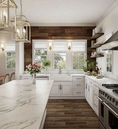 Rustic Kitchen Ideas - Rustic kitchen cabinet is a gorgeous combination of nation home and farmhouse decor. Browse 30 ideas of rustic kitchen design below Home Decor Kitchen, Kitchen And Bath, New Kitchen, Kitchen Dining, Kitchen Cabinets, Rustic Chic Kitchen, Ship Lap Kitchen, Shiplap In Kitchen, Kitchen Layout