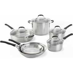 Cooking with Calphalon Stainless Steel 10-Piece Cookware Set