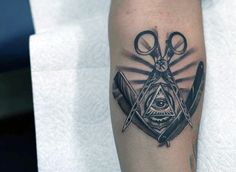 All Seeing Eye Barber Mens Tattoos