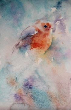 Watercolours With Life: Variety is the Spice of Life : Robin in Watercolour