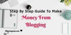 A step by step process on how to make money from your blog through Pinterest.