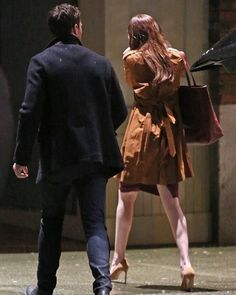 The plum dress is back! This is the scene where Christian takes Ana home after Jose's exhibition in portland  Goood morning and enjoy your Monday  #christiangrey #jamiedornan #dakotajohnson #anastasiasteele #fiftyshades #fiftyshadesdarker