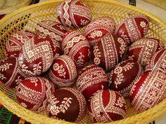 henna painted eggs