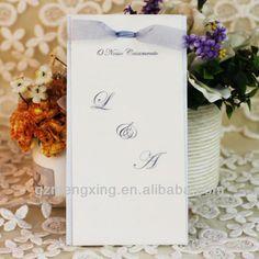 Customized!!! Menu card for wedding -----M010
