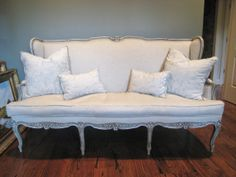 Shabby Chic Antique Louis XV French Style Sofa by ShurlyDesigns, $1400.00