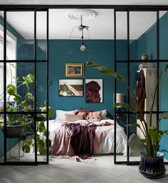 With its perfectly balanced combination of calming green and soothing blue undertones, teal just might be the IT color to use in bedrooms. Have we piqued your interest yet? Read on to discover how to pull off a bohemian teal bedroom with confidence. Room Ideas Bedroom, Small Room Bedroom, Home Decor Bedroom, Small Rooms, Cool Bedroom Ideas, Small Space, Bedroom Interiors, Bedroom Signs, Budget Bedroom