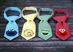 Little Guy Tie - Sesame Street Cookie Monster Tie - Pre-Tied with Adjustable Velcro Closure - Infant through 8 Years on Wanelo