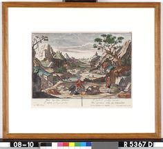 Tafereel ontleend aan de parabel van de verloren zoon  (IV) - Onbekend - 1700  Maat: 28cm x 41,5cm  Materiaal: drukinkt op papier  Inventarisnummer: R5367-D