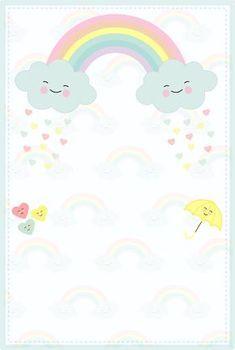 Printables Nail Polish formula x nail polish remover Cloud Party, Diy And Crafts, Paper Crafts, Baby Invitations, Hello Kitty Invitations, Party Decoration, Rainbow Birthday, Writing Paper, Baby Party