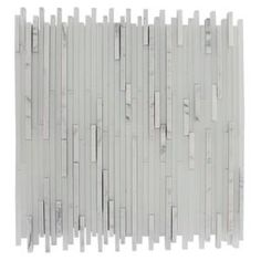 Splashback Glass Tile Ice Pattern 12 in. x 12 in. Glass Mosaic Floor and Wall Tile-TETRIS STYLUS CARRERA at The Home Depot