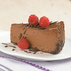 Triple-Chocolate Cheesecake  from Cooking Light magazine recipes-i-love