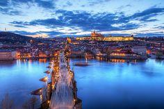 The blue sunset in Prague by Miroslav Petrasko (hdrshooter.com), via Flickr