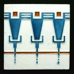 Hanging Pictures On The Wall, Flagstone Tile, Azulejos Art Nouveau, Art Nouveau Tiles, Glasgow School Of Art, Vintage Tile, Mosaic Glass, Stained Glass, Pottery Sculpture