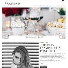 WordPress Theme: Opulence #blogdesign #fbloggers #wordpress #blogger #bbloggers #design