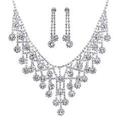 JESMING® Bridal Wedding Prom Jewelry Set Necklace and Earring Crystal Rhinestone V Drop JESMING http://www.amazon.com/dp/B01361P6HQ/ref=cm_sw_r_pi_dp_Aec4vb03T90CT