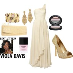 "If I was going somewhere fancy of course...""Viola For Best Actress"" by styleofe on Polyvore"