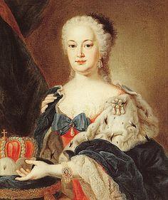 Kurfürstin Elisabeth Auguste by Felix Anton Besold, 1748.