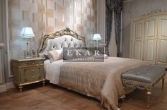Ekar Furniture Luxury Giltwood Bedroom Set Model NO.:FB-133